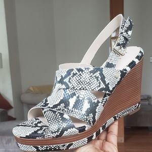 Cole Haan Snakeskin Wedge Sandal
